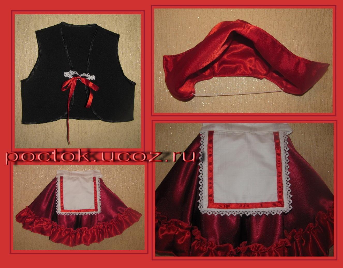 Красная шапочка для костюма своими руками 624